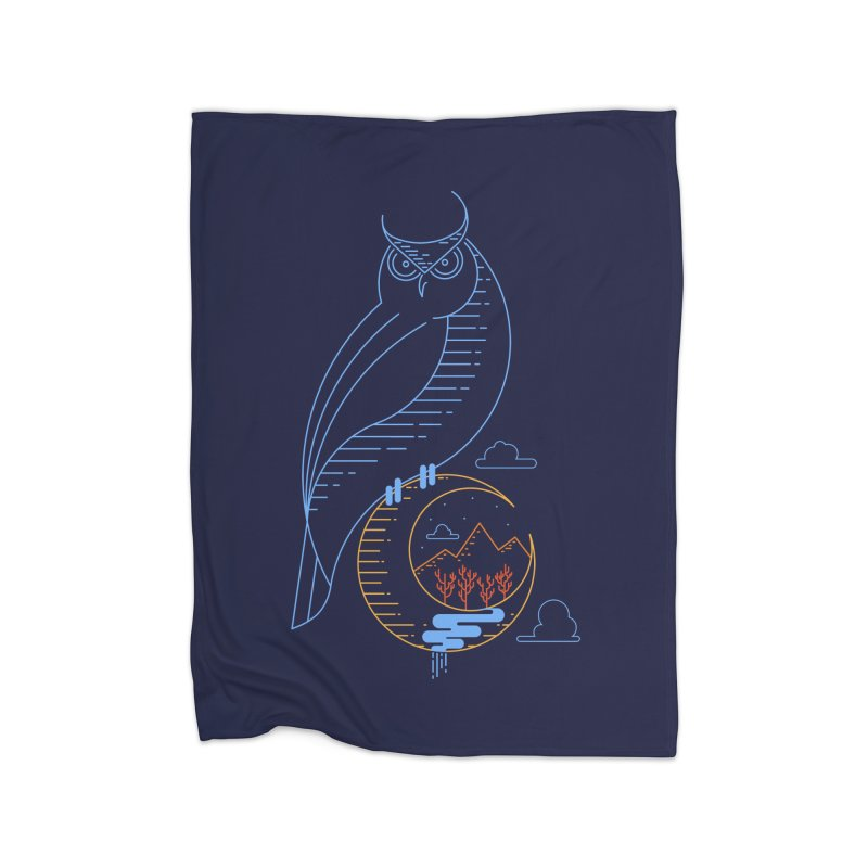 Night Owl Home Blanket by sachpica's Artist Shop