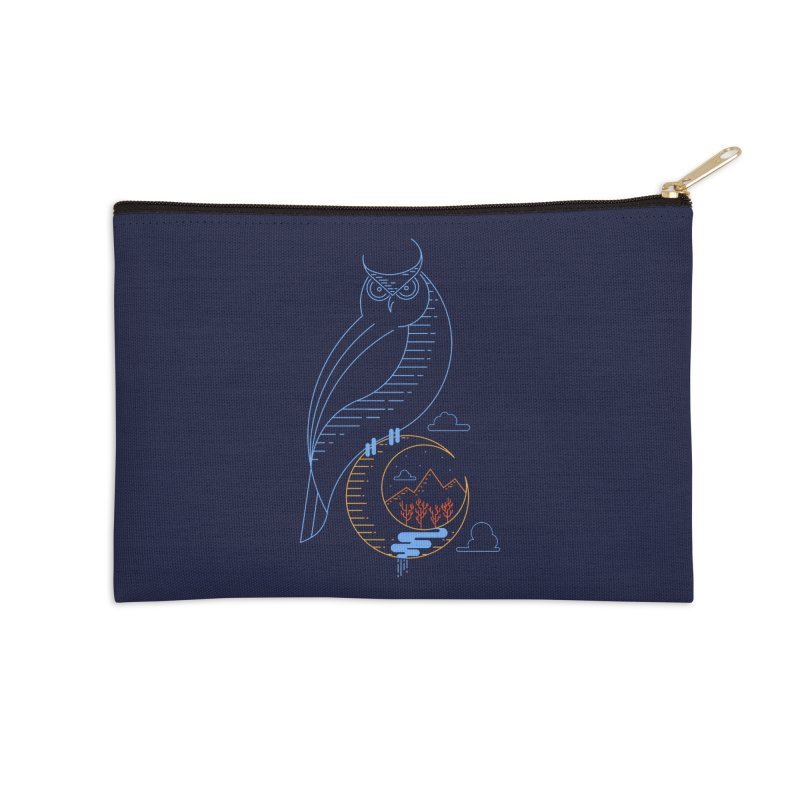 Night Owl Accessories Zip Pouch by sachpica's Artist Shop