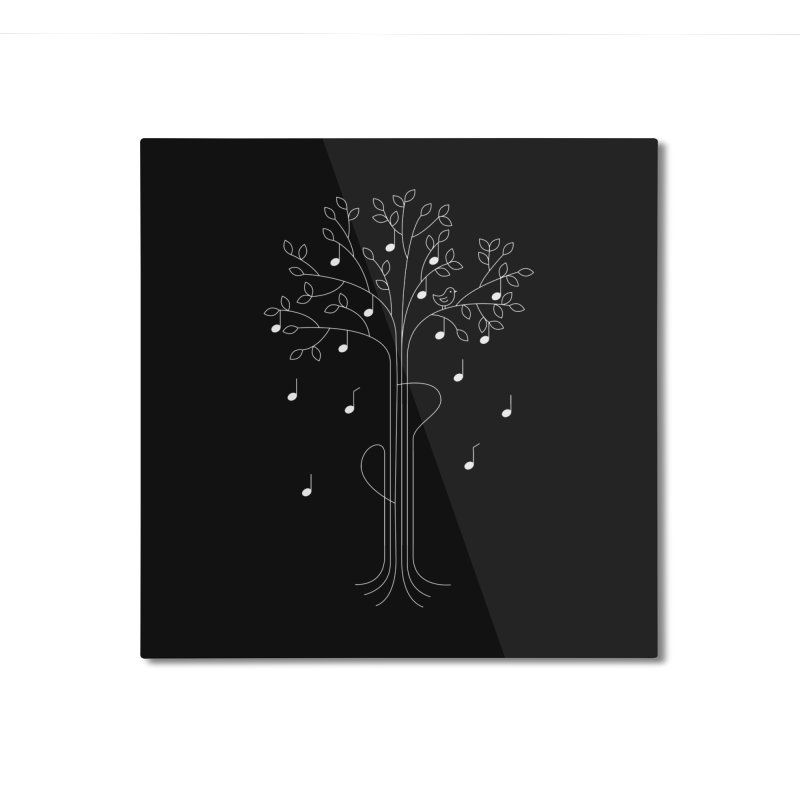 The Musician Home Mounted Aluminum Print by sachpica's Artist Shop