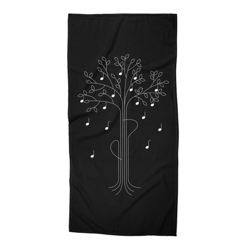 The Musician Accessories Beach Towel by sachpica's Artist Shop