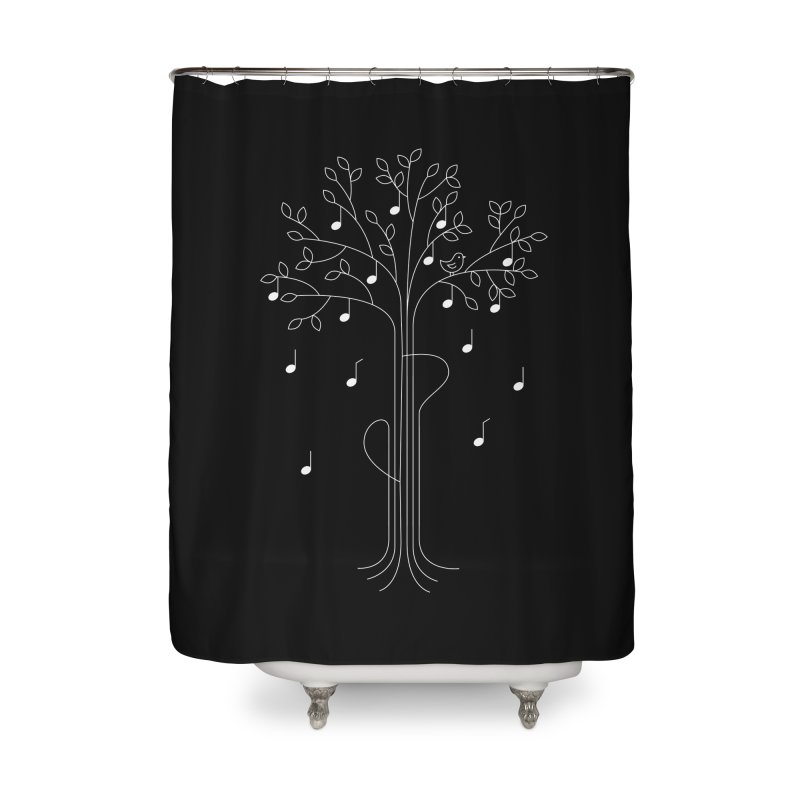 The Musician Home Shower Curtain by sachpica's Artist Shop
