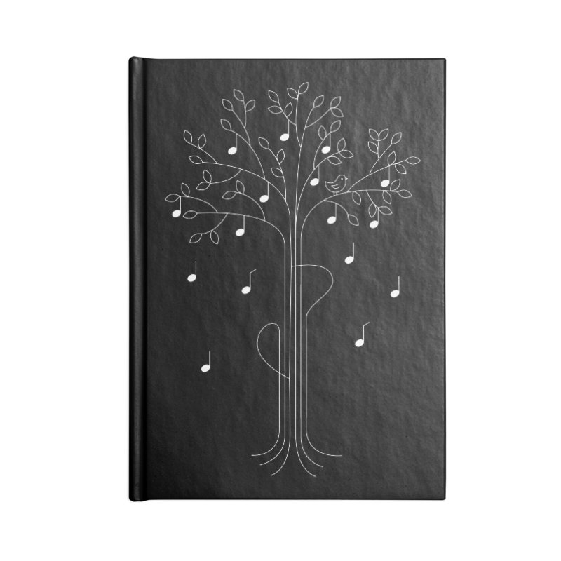 The Musician Accessories Notebook by sachpica's Artist Shop