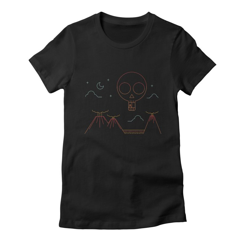 The Island Women's Fitted T-Shirt by sachpica's Artist Shop