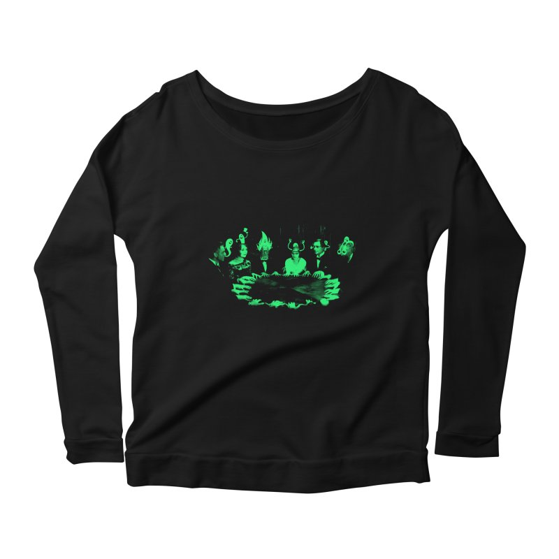 Night Vision Occult Women's Longsleeve Scoopneck  by sachpica's Artist Shop