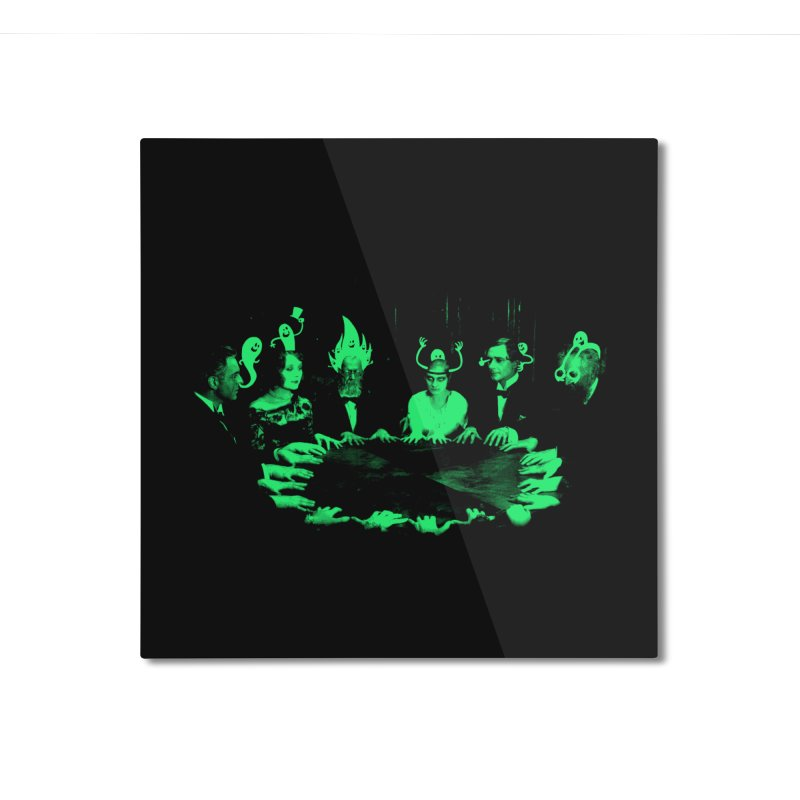 Night Vision Occult Home Mounted Aluminum Print by sachpica's Artist Shop