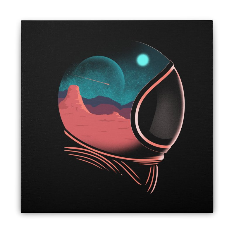 Space Adventure Home Stretched Canvas by sachpica's Artist Shop