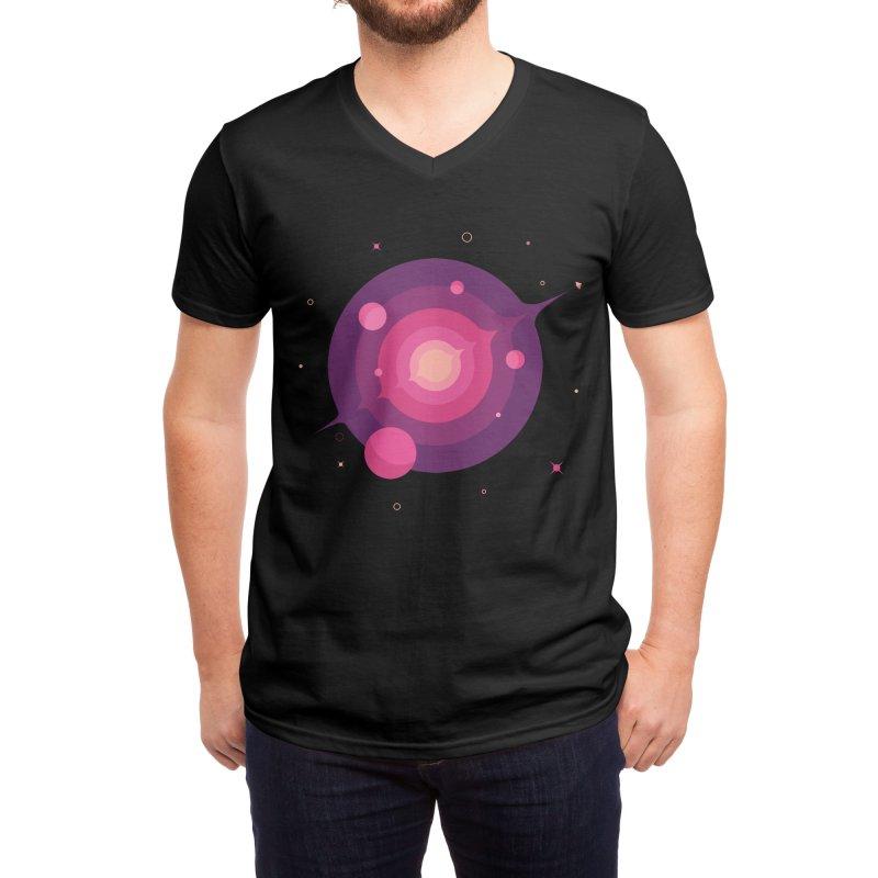 Interstellar Adventure Journey Men's V-Neck by sachpica's Artist Shop