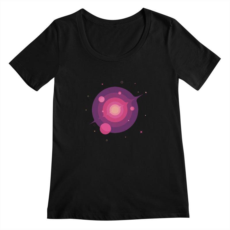 Interstellar Adventure Journey Women's Scoopneck by sachpica's Artist Shop