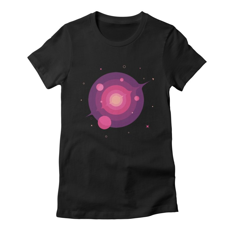 Interstellar Adventure Journey Women's Fitted T-Shirt by sachpica's Artist Shop