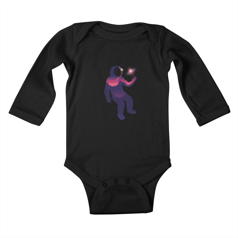The Galaxy is not the limit Kids Baby Longsleeve Bodysuit by sachpica's Artist Shop