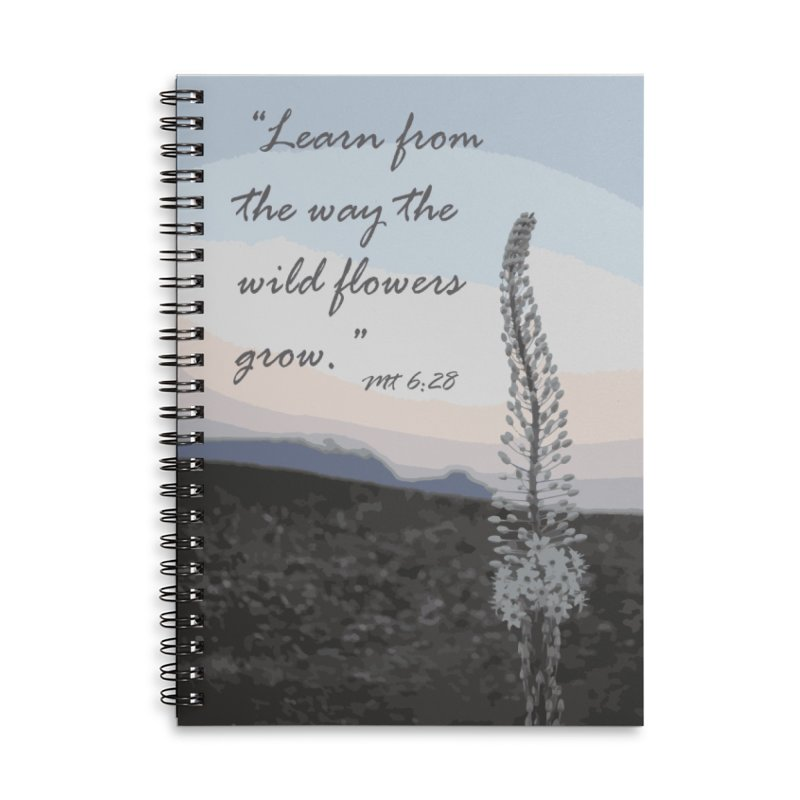 Wild Flowers Accessories Notebook by Sacred Art Scene's Shop