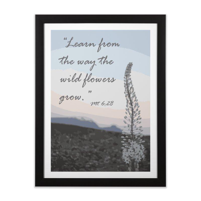Wild Flowers Home Framed Fine Art Print by Sacred Art Scene's Shop