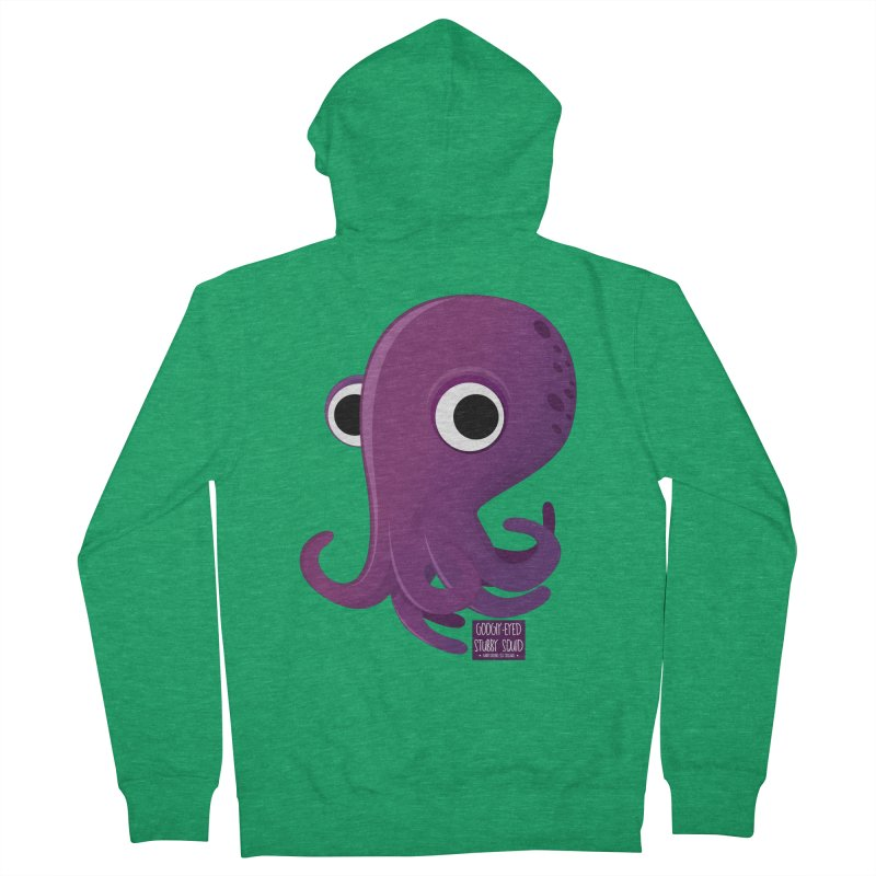 Googly eyed stubby squid Women's Zip-Up Hoody by sadhustudio's Artist Shop