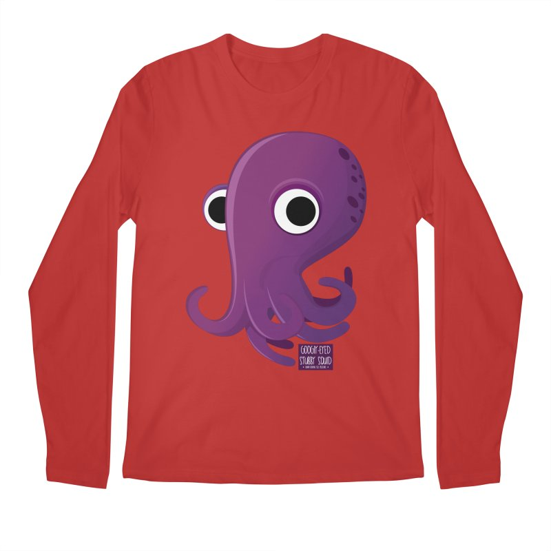 Googly eyed stubby squid Men's Longsleeve T-Shirt by sadhustudio's Artist Shop