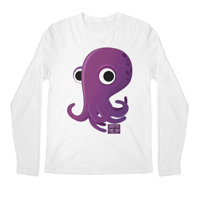 Googly eyed stubby squid Men's Longsleeve T-Shirt by sadhustudio's Artist Shop