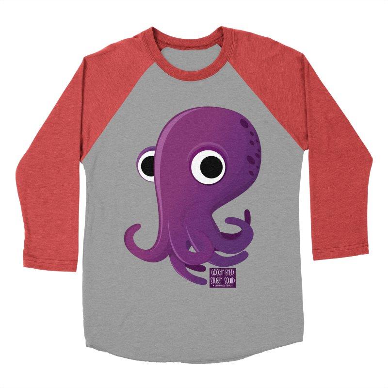 Googly eyed stubby squid Women's Baseball Triblend T-Shirt by sadhustudio's Artist Shop