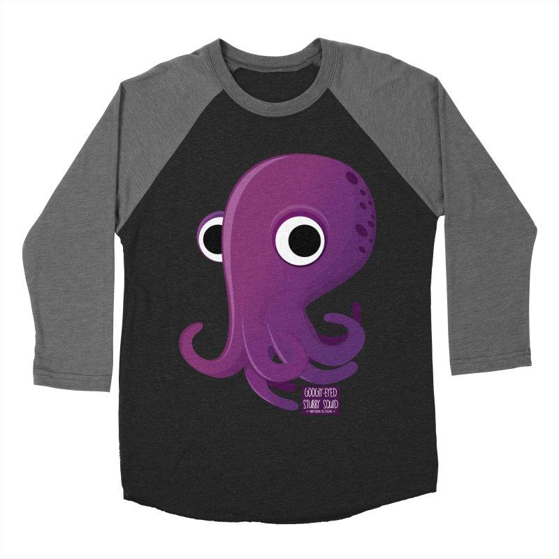 Googly eyed stubby squid Men's Baseball Triblend T-Shirt by sadhustudio's Artist Shop