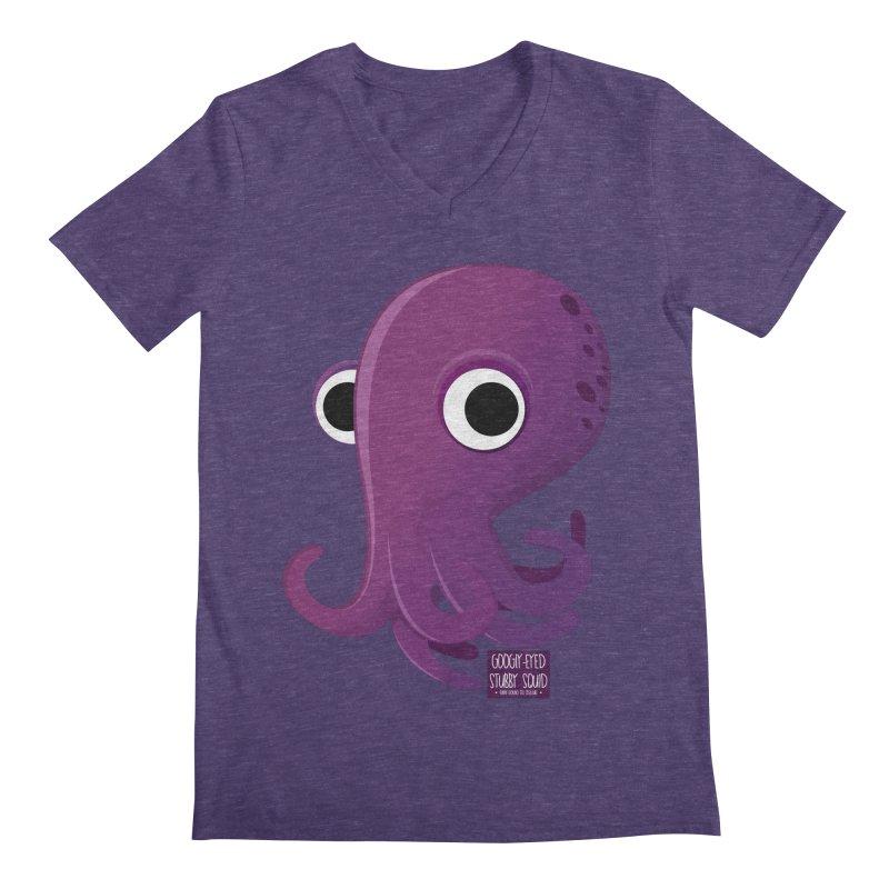 Googly eyed stubby squid Men's V-Neck by sadhustudio's Artist Shop