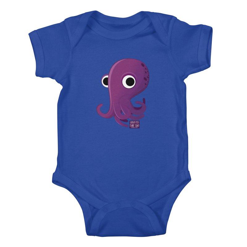 Googly eyed stubby squid Kids Baby Bodysuit by sadhustudio's Artist Shop