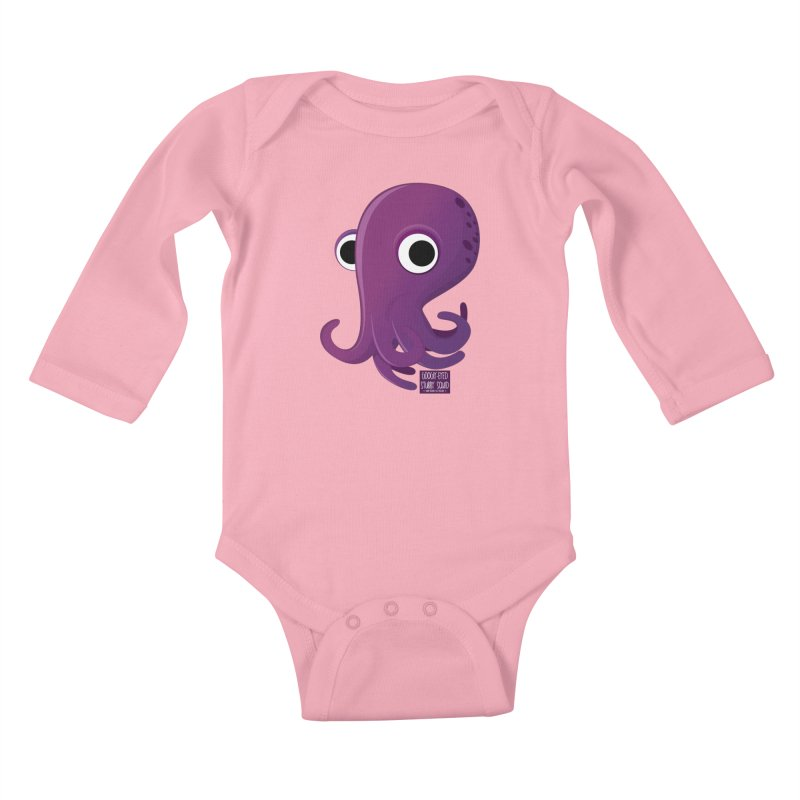 Googly eyed stubby squid Kids Baby Longsleeve Bodysuit by sadhustudio's Artist Shop
