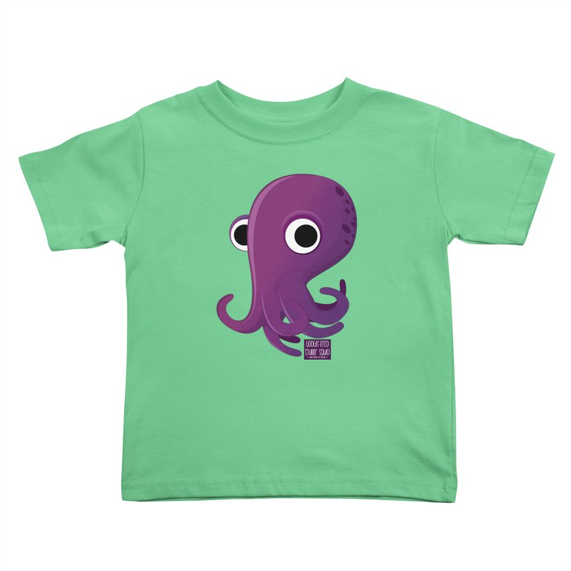 Googly eyed stubby squid Kids Toddler T-Shirt by sadhustudio's Artist Shop