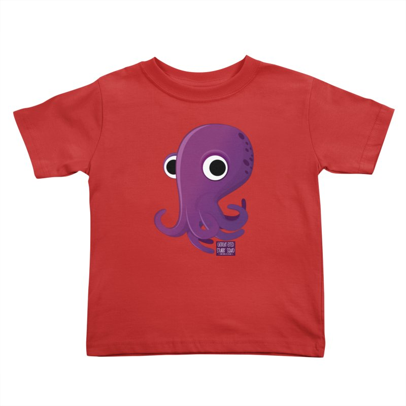 Googly eyed stubby squid Kids Toddler T-Shirt by sadhustudio's Artist Shop