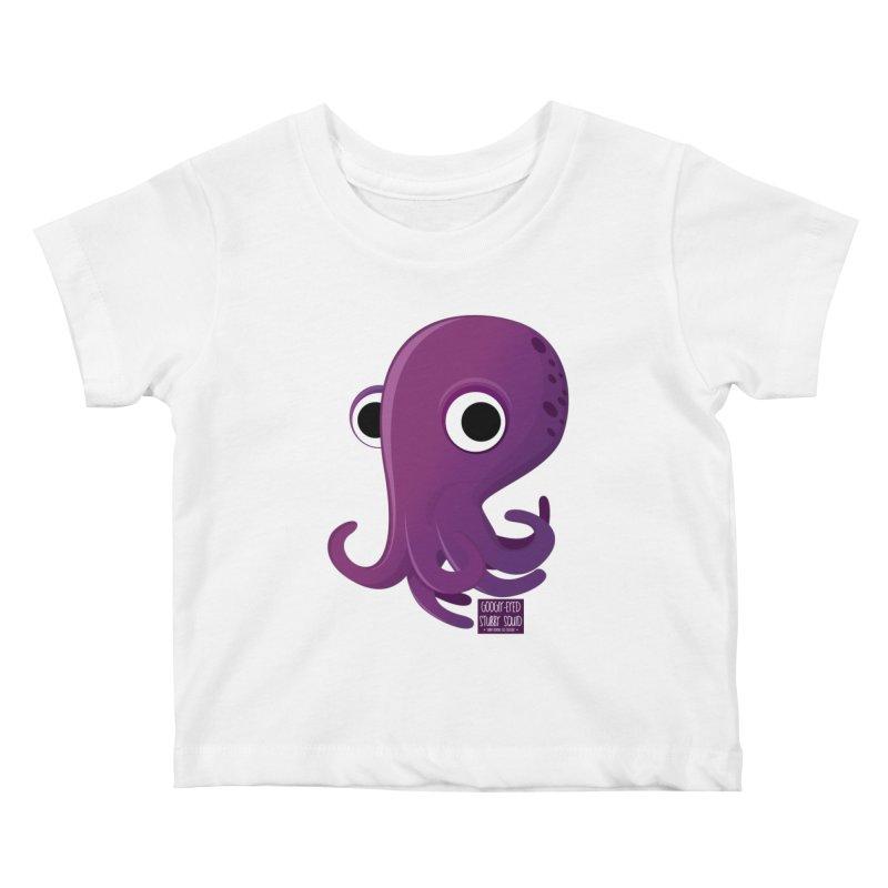 Googly eyed stubby squid Kids Baby T-Shirt by sadhustudio's Artist Shop