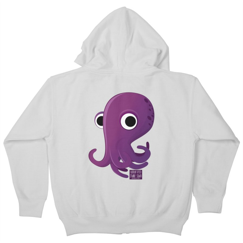Googly eyed stubby squid Kids Zip-Up Hoody by sadhustudio's Artist Shop