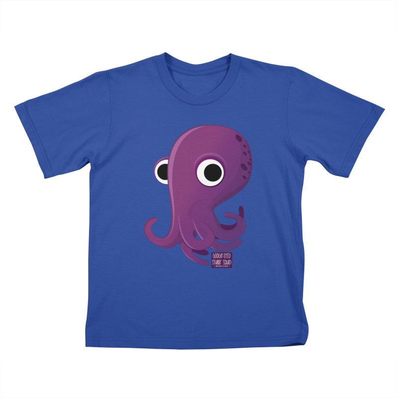 Googly eyed stubby squid Kids T-Shirt by sadhustudio's Artist Shop