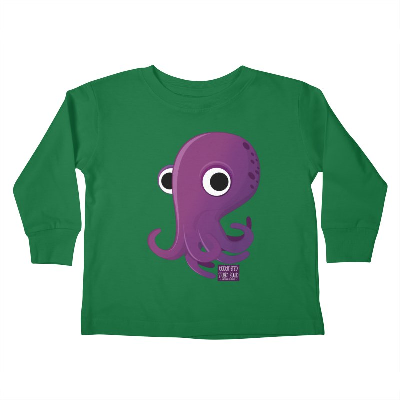 Googly eyed stubby squid Kids Toddler Longsleeve T-Shirt by sadhustudio's Artist Shop
