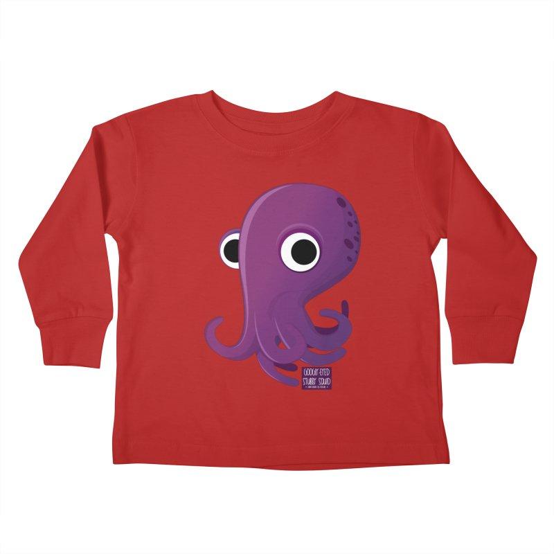 Googly eyed stubby squid Kids Toddler Longsleeve T-Shirt by sadhustudio's Artist Shop