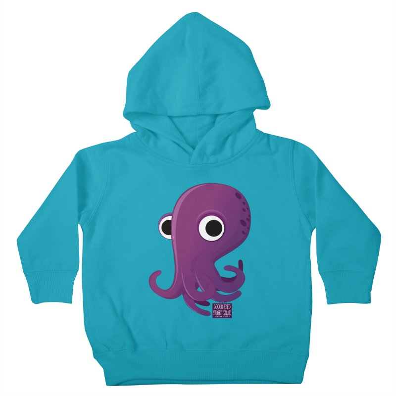 Googly eyed stubby squid Kids Toddler Pullover Hoody by sadhustudio's Artist Shop
