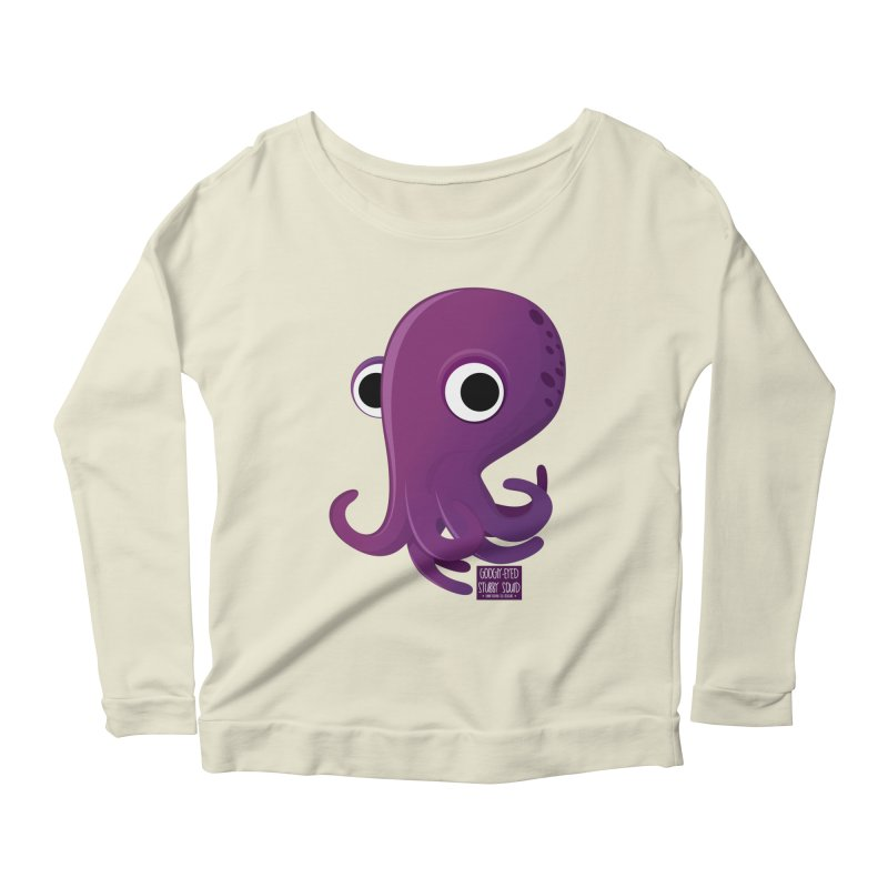 Googly eyed stubby squid Women's Longsleeve Scoopneck  by sadhustudio's Artist Shop