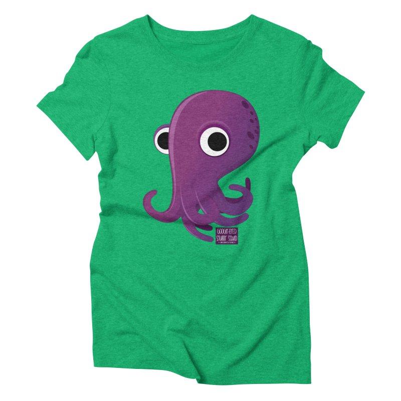 Googly eyed stubby squid Women's Triblend T-shirt by sadhustudio's Artist Shop