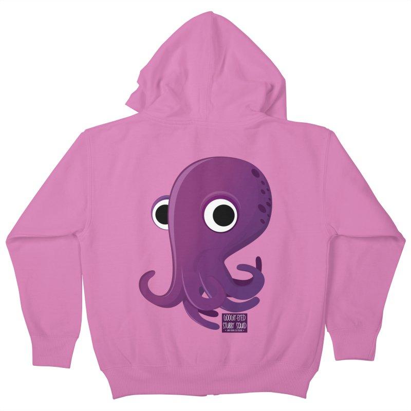Googly eyed stubby squid Kids Zip-Up Hoody by sadhustudio's Artist Shop