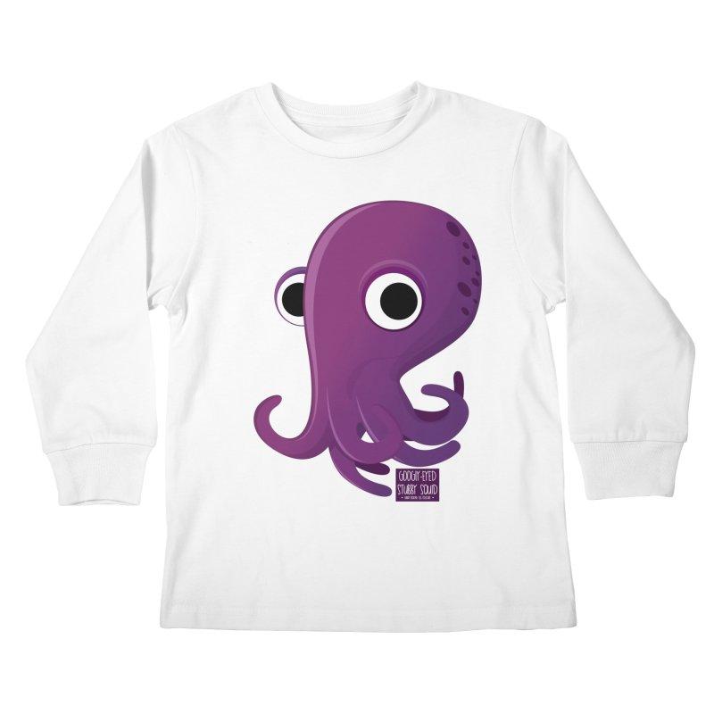 Googly eyed stubby squid Kids Longsleeve T-Shirt by sadhustudio's Artist Shop