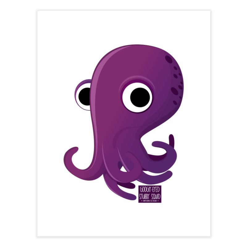 Googly eyed stubby squid Home Fine Art Print by sadhustudio's Artist Shop