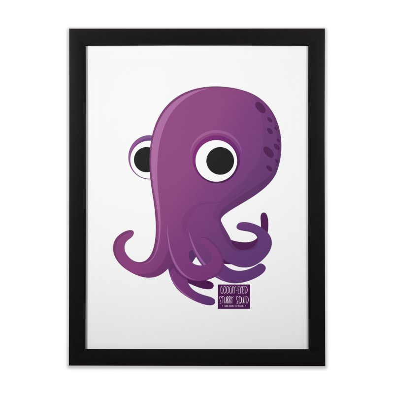 Googly eyed stubby squid Home Framed Fine Art Print by sadhustudio's Artist Shop
