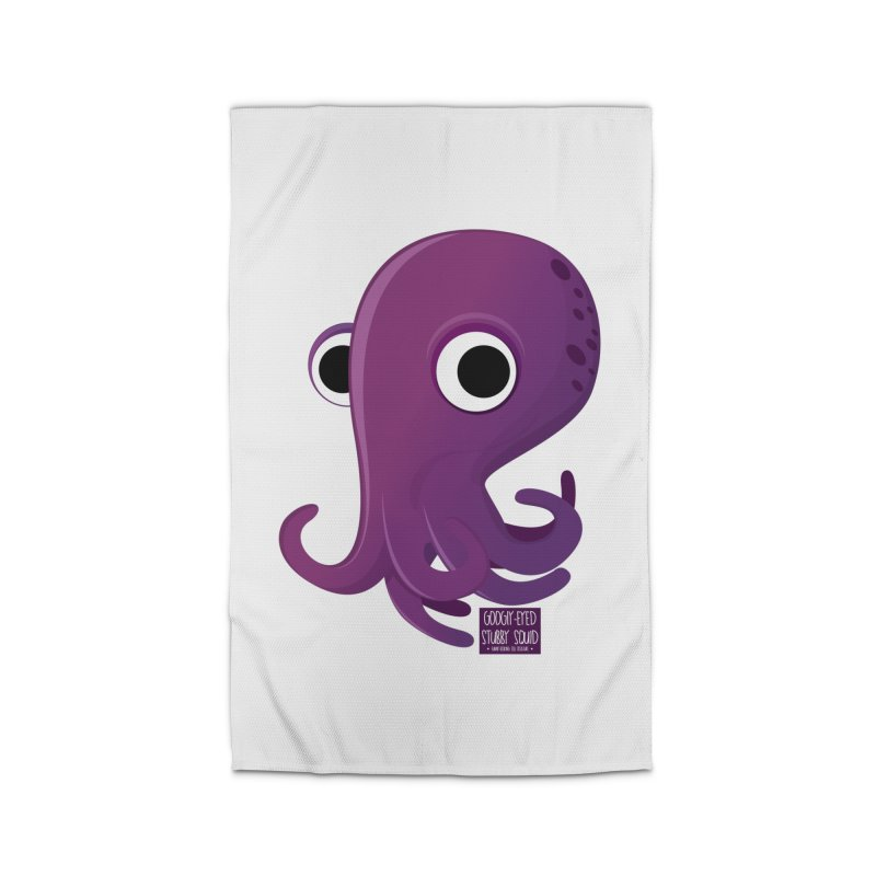 Googly eyed stubby squid Home Rug by sadhustudio's Artist Shop