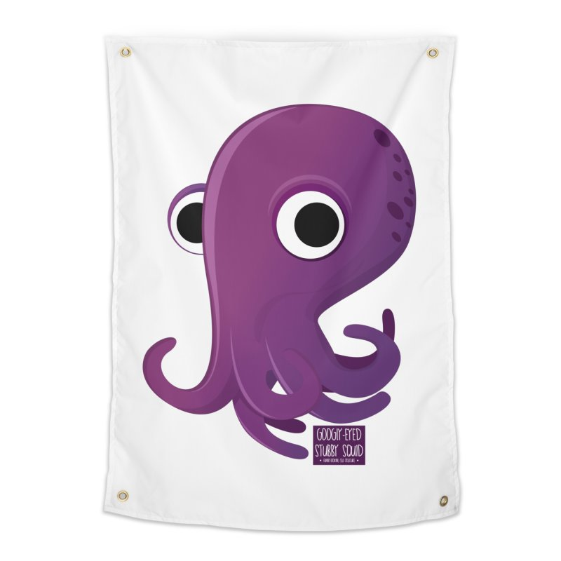 Googly eyed stubby squid Home Tapestry by sadhustudio's Artist Shop