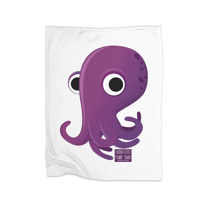 Googly eyed stubby squid Home Blanket by sadhustudio's Artist Shop