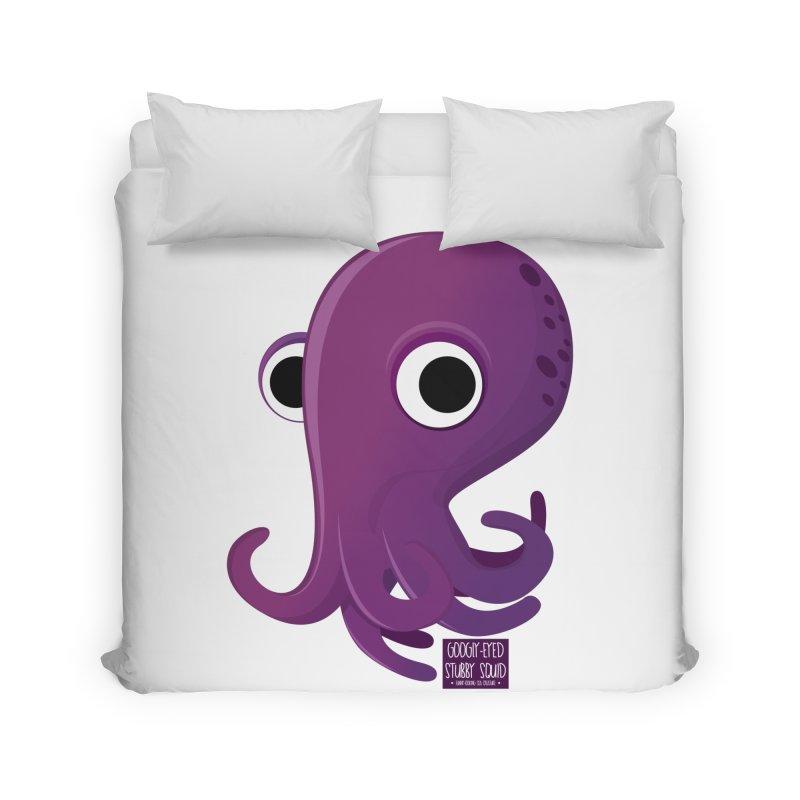 Googly eyed stubby squid Home Duvet by sadhustudio's Artist Shop