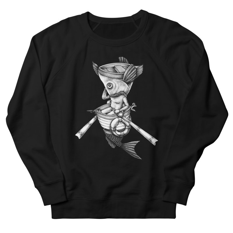 fishbrella Men's French Terry Sweatshirt by Sadi Tekin's Shop