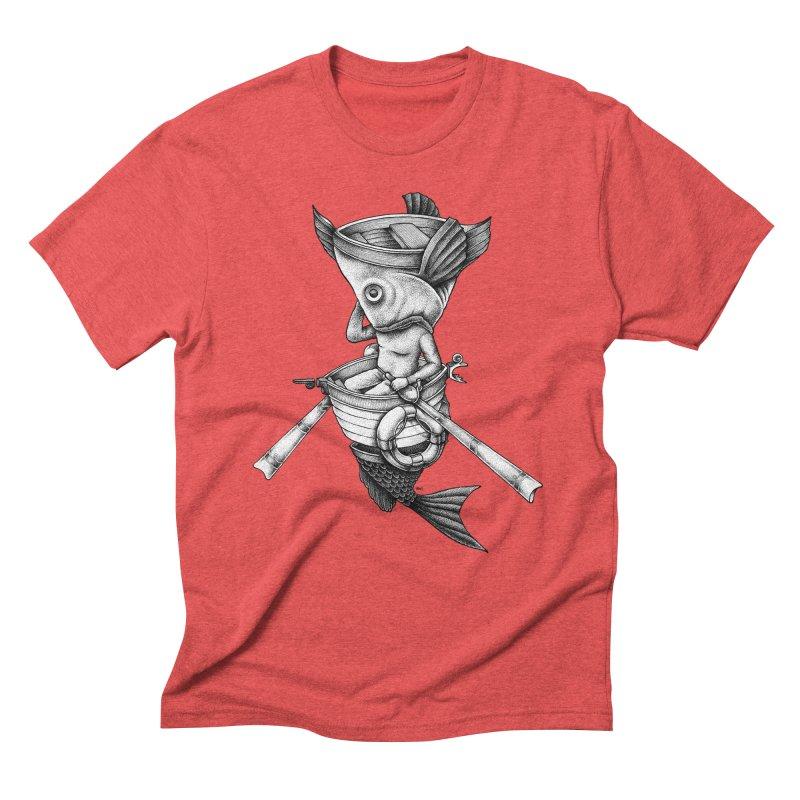 fishbrella Men's Triblend T-Shirt by Sadi Tekin's Shop