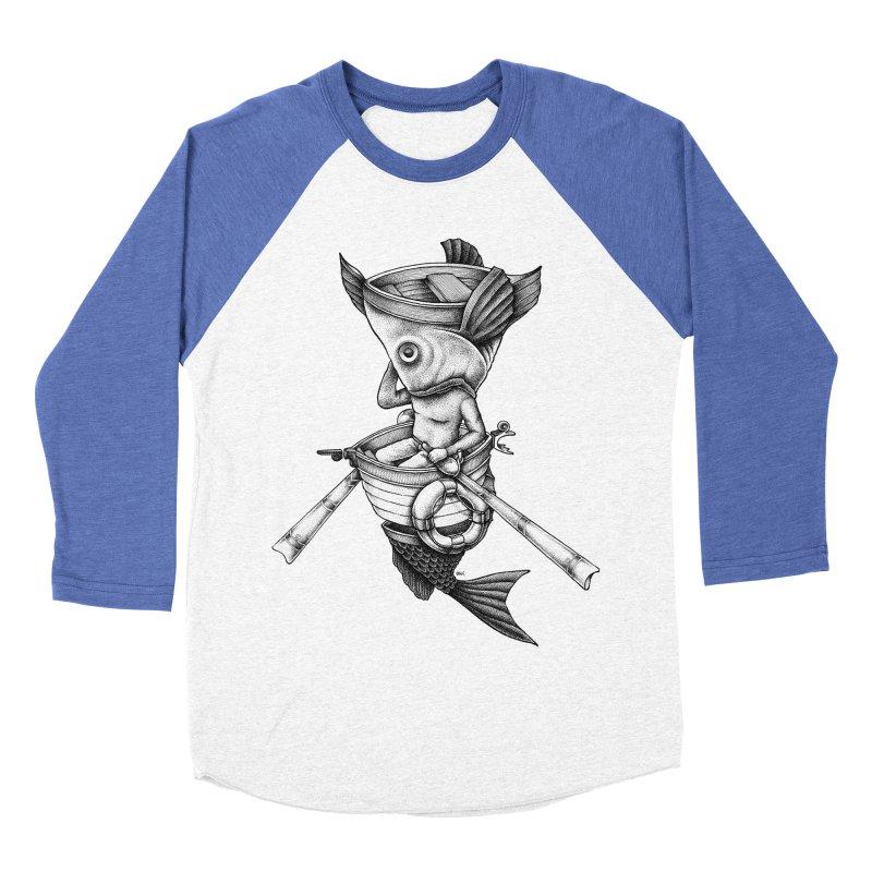 fishbrella Women's Baseball Triblend Longsleeve T-Shirt by Sadi Tekin's Shop