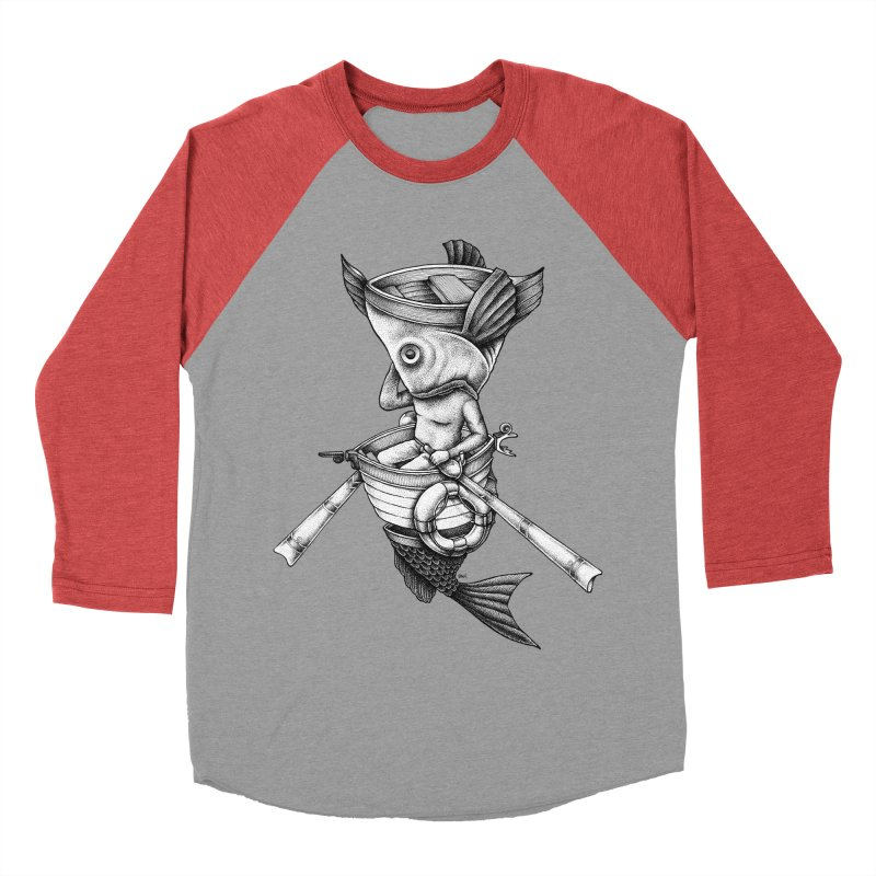 fishbrella Men's Baseball Triblend Longsleeve T-Shirt by Sadi Tekin's Shop
