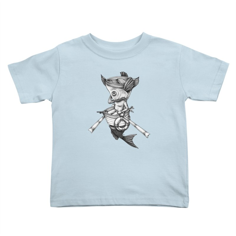 fishbrella Kids Toddler T-Shirt by Sadi Tekin's Shop