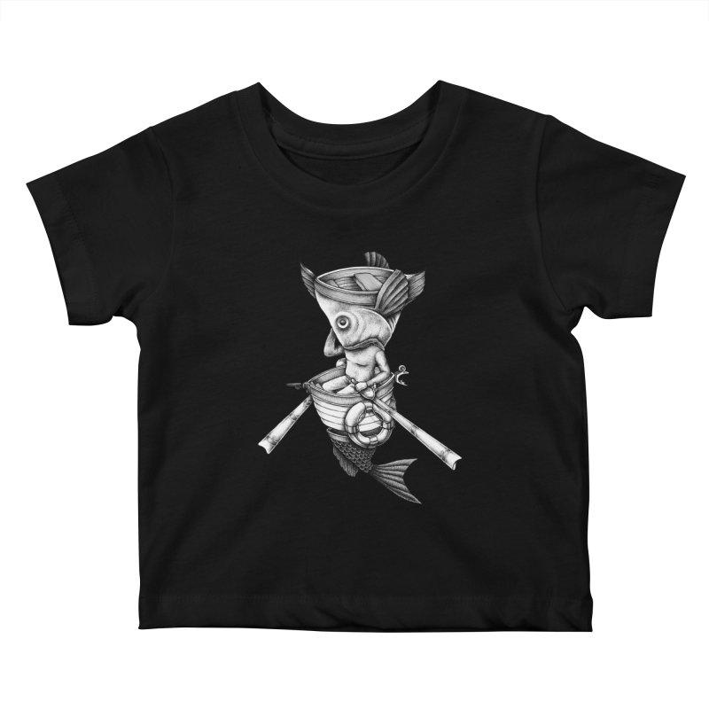 fishbrella Kids Baby T-Shirt by Sadi Tekin's Shop