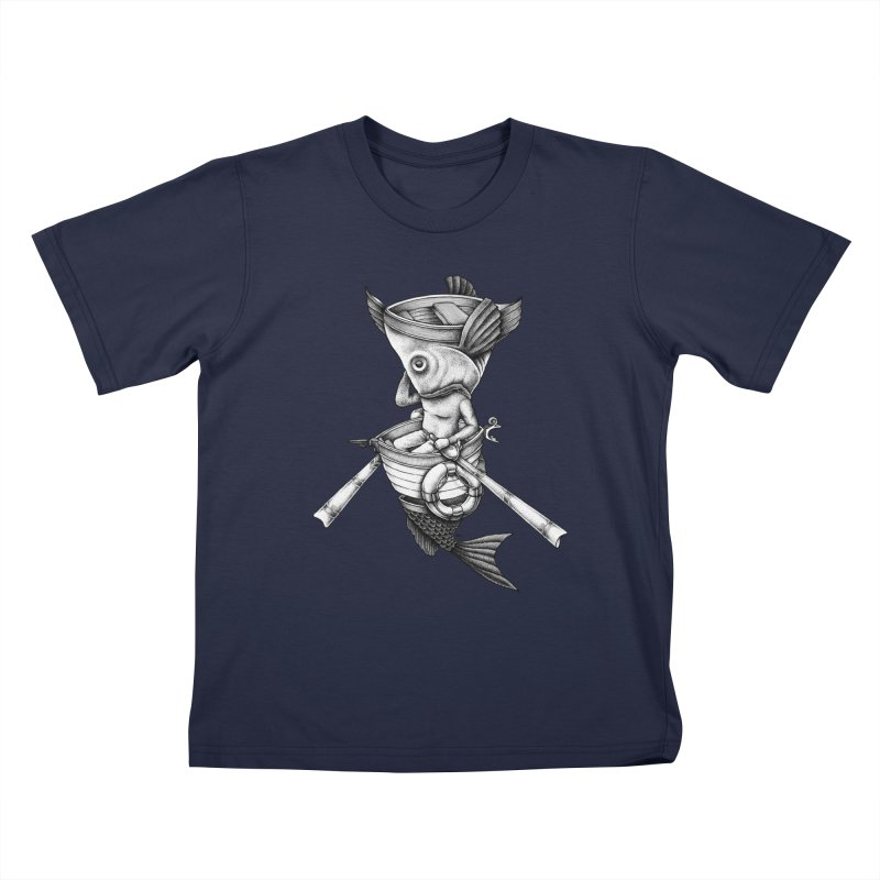 fishbrella Kids T-Shirt by Sadi Tekin's Shop