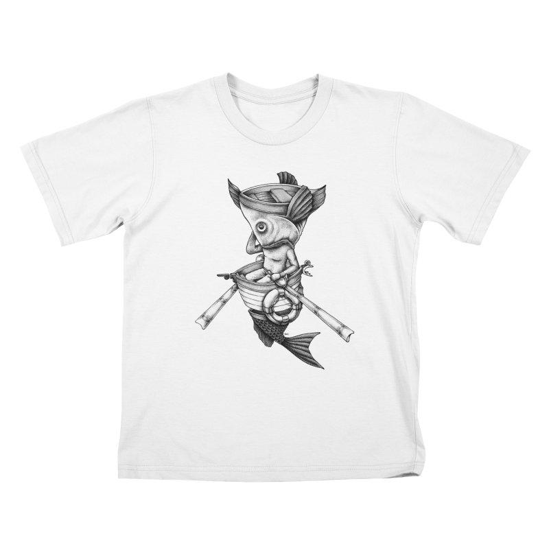 fishbrella Kids T-Shirt by Sadi Tekin's Shop